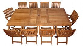 Teak Outdoor Dining Table and Chairs Set Tuscan - 1 |  Premium Teak
