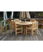 Teak Patio Set Padua table, Teak Aquinah Chairs - customer photo