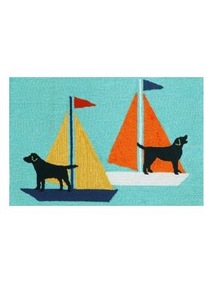 Dogs Sailing Outdoor Rug