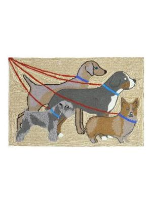 Dogs on Walk Rug