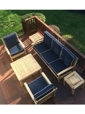 Teak Deep Seating Sofa, Club Chairs, End Tables - Customer Photo Goldenteak