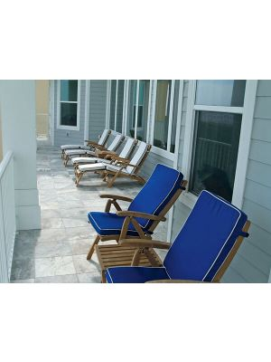 Teak Steamer Chairs and Teak Recliners in Florida - Customer Photo