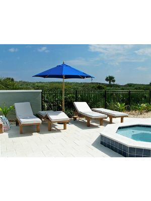 Goldenteak Teak Chaise Lounge Sun Loungers in Florida