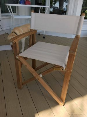 Teak Directors Chair Customer Photo Goldenteak