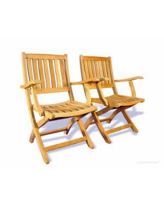 Teak Folding Providence Chair PAIR