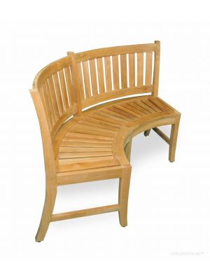 Curved Teak Bench 5ft - Estate Collection | Premium Teak
