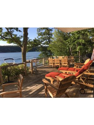 Adirondacks, Chaise Lounges, Teak Dining - Goldenteak Customer Photo