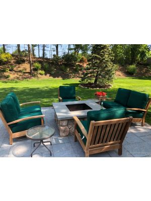 Teak Deep Seating Conversation Set Loveseat - Customer Photo -SS-Goldenteak