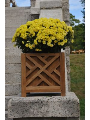 Teak Planter Chippendale 15 inch sq.