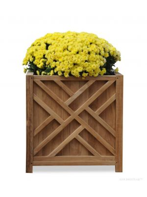 Teak Planter Chippendale 20.5 inch sq