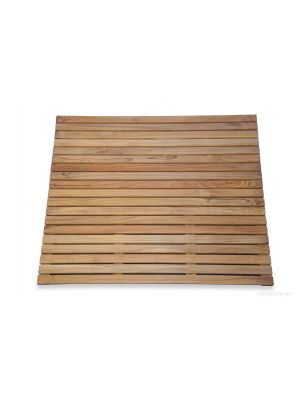 Teak Bath Mat 26 in x 26 in