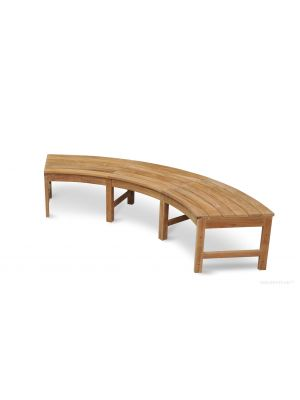 Westminster Teak Circular Curved Backless Bench 83 in W