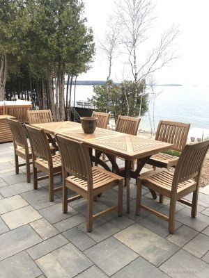 Versatile Teak Outdoor Dining Set - Customer Photo