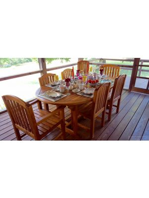 Teak Patio Dining Set for 10 - Customer Photo