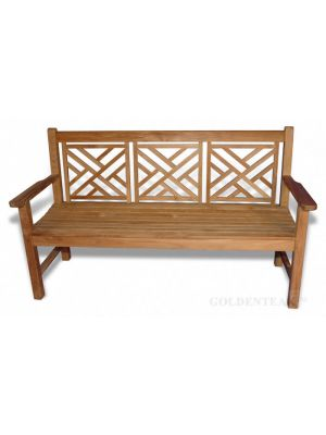 Chippendale Teak Bench 5 ft. |  Premium Teak