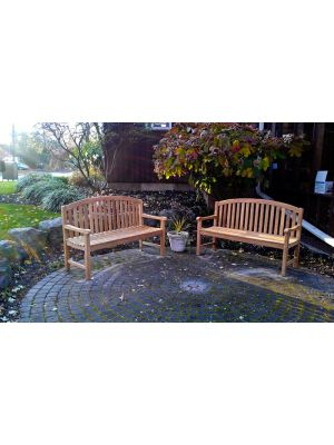 Teak Bench Aquinah at the Demarest Free Library, Demarest NJ - customer photo