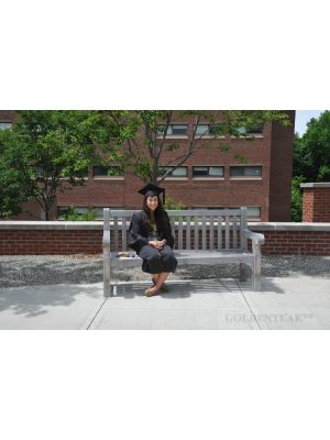 Teak Hyde Park Bench 6 ft Dartmouth College - Customer Photo