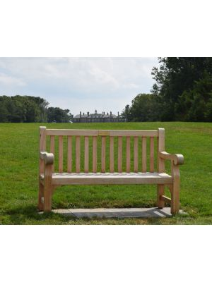 Teak Hyde Park Bench Goldenteak Cranes Castle - cust photo