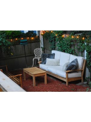 Teak Deep Seating Sofa, Hyde Park Bench and Coffee Table Customer Photo Goldenteak