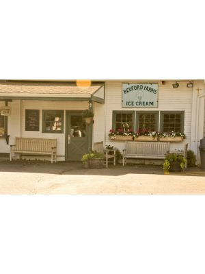 Teak Block Island Benches at Bedford Farms Ice Cream - customer photo