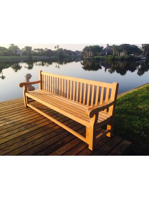 Teak Hyde Park Bench 8ft - Customer Photo