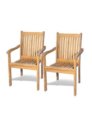 Teak Stacking Chair Tisbury - PAIR