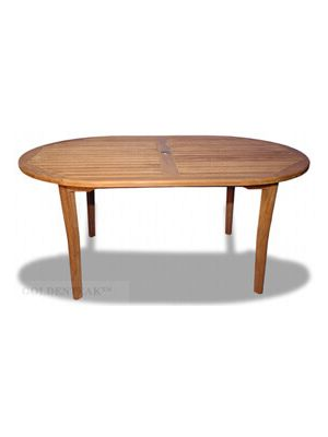 Teak Captiva Oval Table New