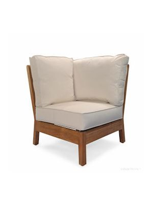 Teak Deep Seating CORNER UNIT with cushions