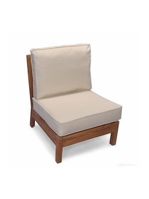Teak Deep Seating Sectional CENTER unit with cushion