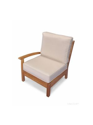 Teak Deep Seating sectional RIGHT unit with cushion