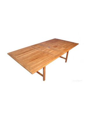 Teak Dining Table Rectangular Extension , 2 leaves