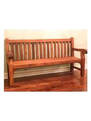 Hyde Park 6ft Teak Bench Goldenteak Customer Photo WC