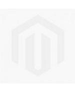 Teak Patio Set - Round Table 4 Teak and Navy Mesh Folding Chairs
