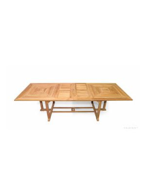 Nantucket Grand Teak Ext Table 43W X 87L Ext 118 inch |  Premium Teak