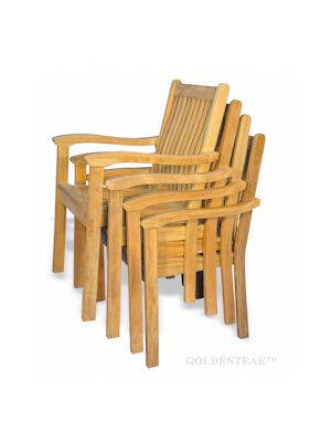 Tisbury Teak Stacking Chair set of 4