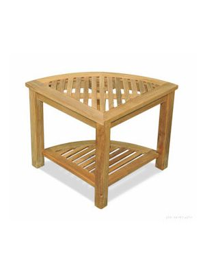 Teak Corner Table or Shower Stool, 20X20X18H