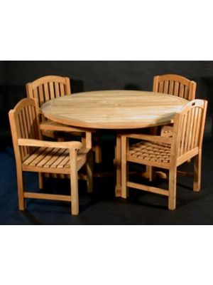 60 in Padua Table with 4 Aquinah Chairs