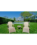 Teak Adirondack Chairs at Luxury Beach House