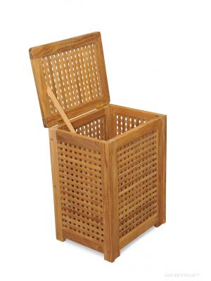 Teak Hamper Large -  multi use.
