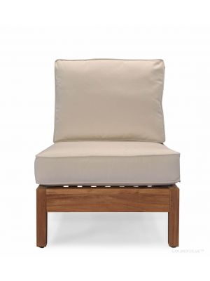 Teak Deep Seating Sectional CENTER unit with cushion - Belvedere Collection