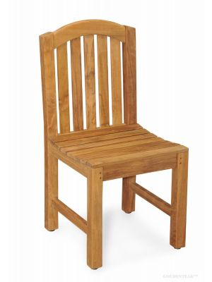 Teak Aquinah Curved Top Side Chair without arms