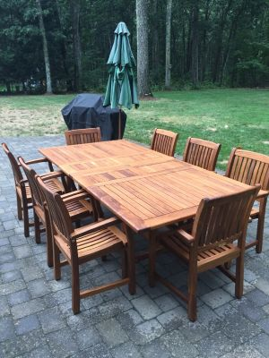 Teak Patio Set for 8 Customer Photo - Goldenteak