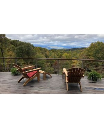 Teak Adirondack Chairs on Deck Mountains - Goldenteak