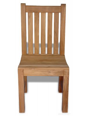 Teak Block Island Side Chair Without arms