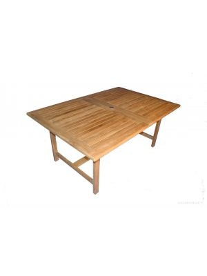 Teak Dining Table Rectangular Extension , 2 leaves - Bridgewater Collection