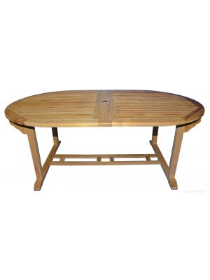 Teak Dining Table Oval Double Extension  Large