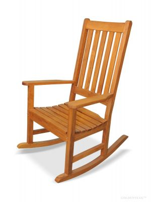 Teak Porch Rocking Chair, Carolina Rocker