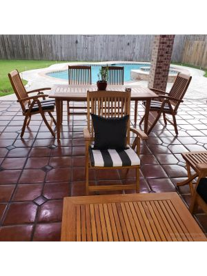 Teak Patio Dining Set Sutton Table, Recliner Chairs - Goldenteak Photo