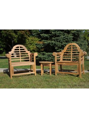 Teak Lutyens Chair Set of Two
