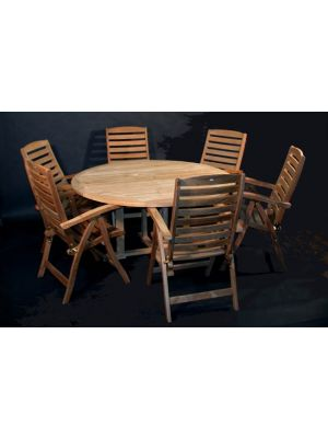 60 Padua Table with 6 Portsmouth Chairs